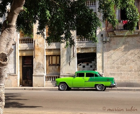 Two-Tone Green Car